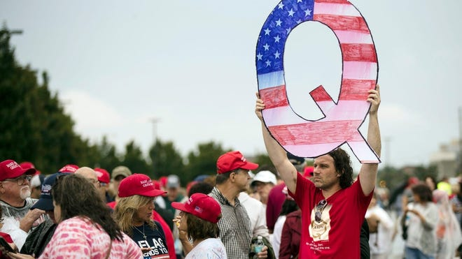 A crowd waits to enter a campaign rally with President Donald Trump in Wilkes-Barre, Pennsylvania, on Aug. 2, 2018.