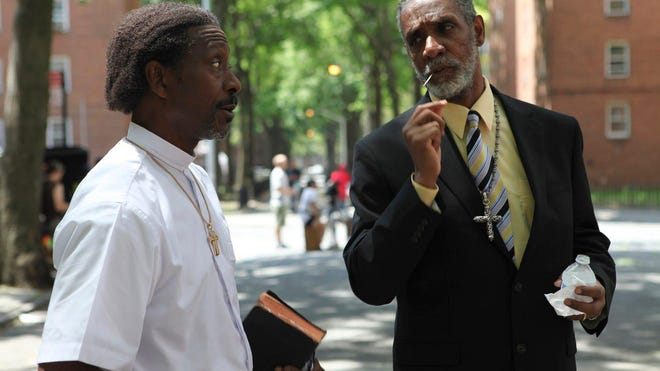Clarke Peters, left, and Thomas Jefferson Byrd in Spike Lee's 'Red Hook Summer.'