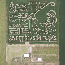 Sweet Season Farms in Berrydale is honoring two-time Masters champion Bubba Watson with a corn maze in his image.