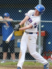 Pearl River's Matt Russo (23) at bat during in a Class A baseball quarterfinal at Pearl River High School on May 23, 2017.