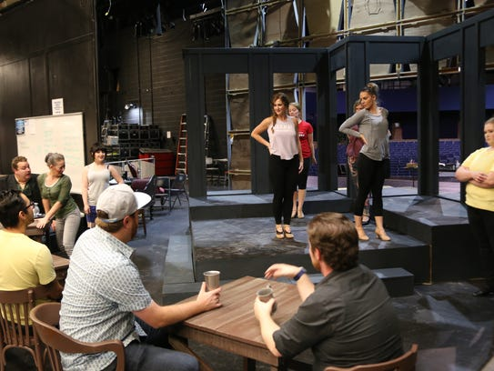 """The Stage Door """"Jekyll & Hyde"""" cast rehearses at Dixie"""