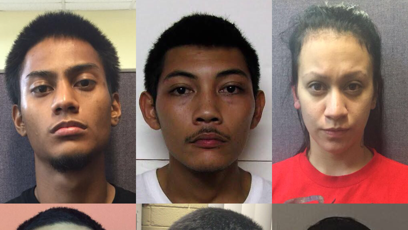 Search for one man leads to 6 drug arrests