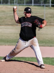 Muskego sophomore Jacob Leszczynski delivers a pitch