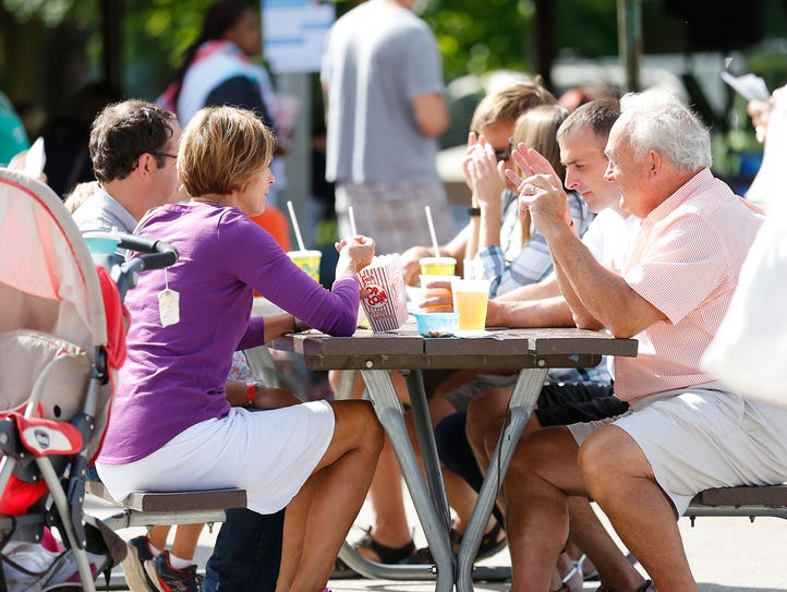 People of all ages enjoy food from many different area