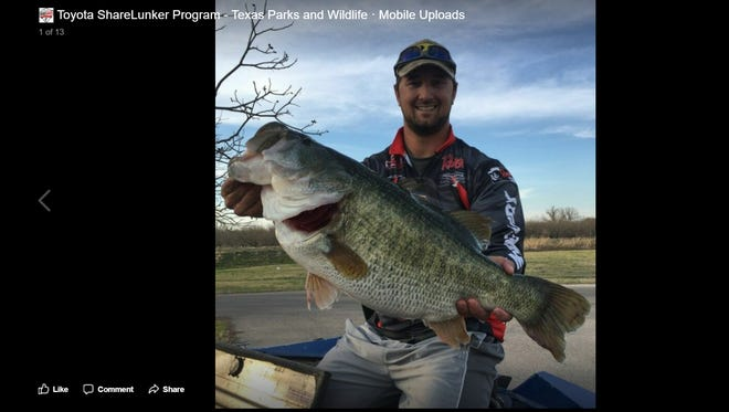 Austin Terry caught a Legacy Lunker on March 14, 2018.