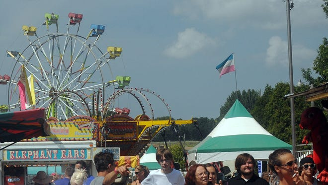 The midway Saturday at the Door County Fair in Sturgeon Bay.