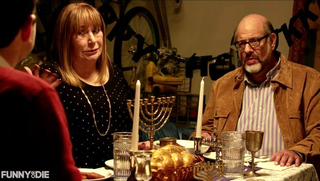 Nick Kroll, Fred Melamed, Penny Marshall and more star in a Thanksgiving/Hannukah movie trailer.