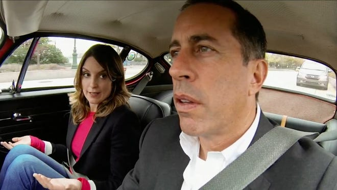 Jerry Seinfeld and Tina Fey in the third season of the Crackle series 'Comedian in Cars Getting Coffee.'