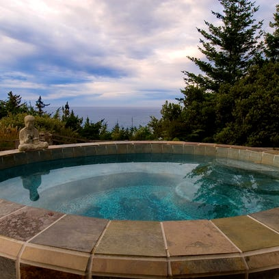 It's easy to be mesmerized by the Pacific Ocean from a seat in the hot tub at WildSpring Guest Habitat in Port Orford, Ore.