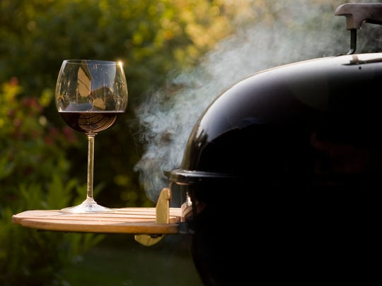 A nice glass of wine can complement grilled and barbecued