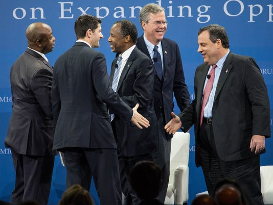 Ben Carson, Jeb Bush, Chris Christie, Tim Scott, Paul Ryan