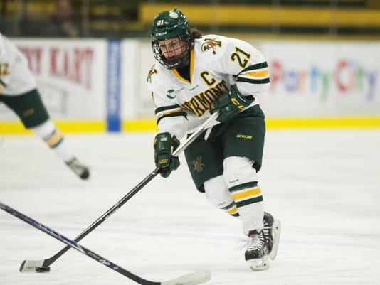New Hampshire vs. Vermont Women's Hockey 02/13/15