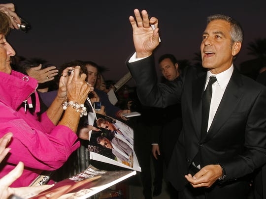 George Clooney arrives at the  2012 Palm Springs International Film Festival January 7, 2012.  Honoree Clooney is receiving the Chairman's Award.