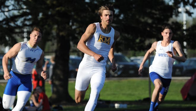 Kettle Moraine's Ben Psicihulus,is chasing his second state track meet.