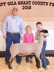 Samuel McDonald exhibits his blackface Class 8 lamb
