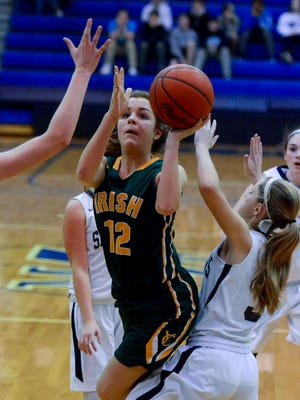 York Catholic standout Kate Bauhof will not be playing for the Fighting Irish this season while she recovers from a torn anterior cruciate ligament injury. YORK DISPATCH FILE PHOTO