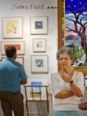 Sabra Field attended a retrospective of her work at the Frog Hollow Vermont State Craft Center on Church Street in Burlington in 2012.