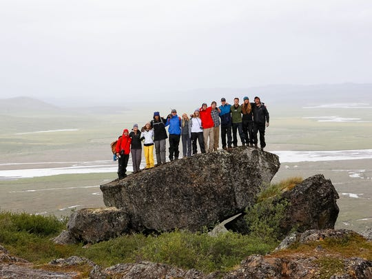 Rustic Pathways participants are shown in Alaska's