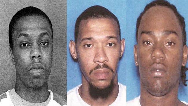 Inmates Demarcus Woodward, Gemayel Culbert and Justin Terrell Gordon escaped an Alabama jail on Dec. 13.