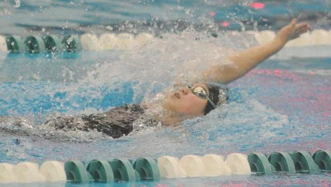 Senior Hannah Chao placed seventh in the backstroke at the Division 2 state meet.