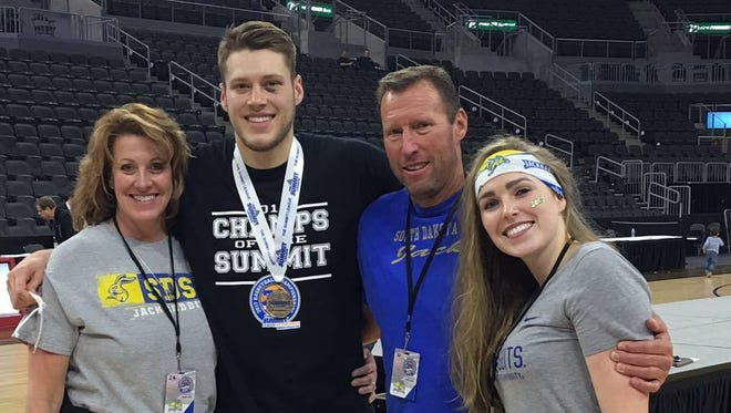 Michele, Mike, Mitch and Danika Daum after last year's Summit League tournament