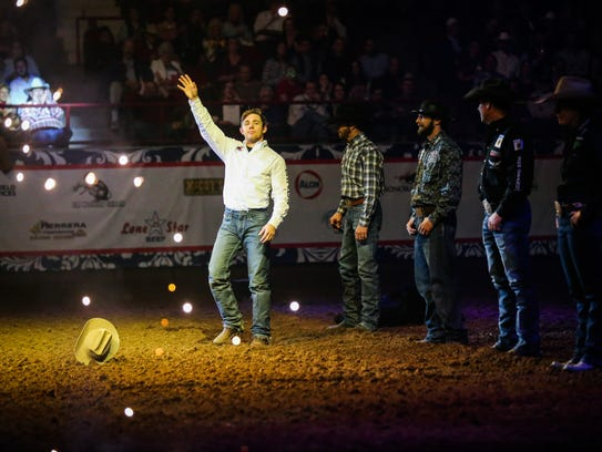 San Angelo Stock Show and Rodeo champions greet the