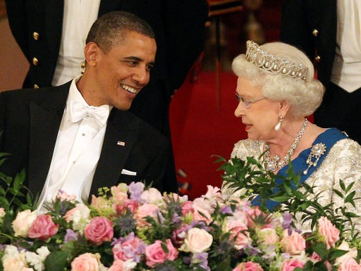 U.S. Presidents come and go but Britain's Queen Elizabeth II has stood the test of time as the one of the world's longest ruling monarchs. Take a look back through her numerous visits with Presidents of the United States.