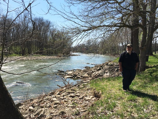 Jason Waugh went fishing in the Sandusky River this