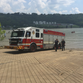 Officials: Boat catches fire, passengers jump into Ohio River