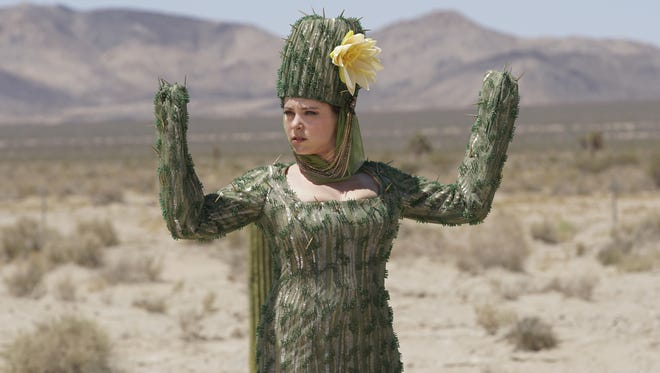 "Rebecca (Rachel Bloom) finds herself in a sexy cactus costume in the 'Crazy Ex-Girlfriend' Season 2 premiere, ""Where is Josh's Friend?"""