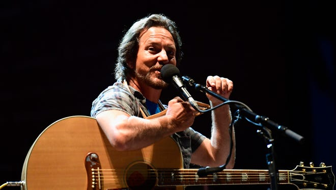 Eddie Vedder performs during Pilgrimage Music and Cultural Festival on Sept. 24, 2017 in Franklin, Tenn.