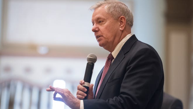 """When asked Sunday onCBS' """"Face the Nation,"""" South Carolina's U.S. Sen. Lindsey Graham said the tariff war is """"hurting."""""""