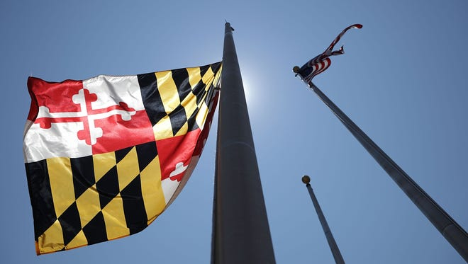 Maryland Governor Larry Hogan ordered the state flag flown at half-staff in honor of the victims of last week's shooting at the Annapolis Capitol Gazette. The five victims were Gerald Fischman, 61, an editorial editor; Rob Hiaasen, 59, an editor and columnist; John McNamara, 56, a sports reporter and editor; Wendi Winters, 65, a news reporter and columnist; and Rebecca Smith, 34, a sales assistant.