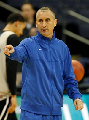 Buffalo coach Bobby Hurley leads his team against West Virginia at 2:10 p.m. ET Friday.