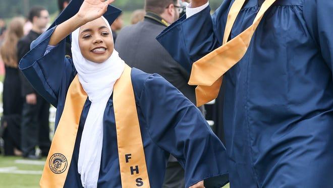Franklin High School graduation in Franklin on June 16, 2017.