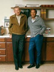 Amway co-founders Jay Van Andel, left, and Rich DeVos