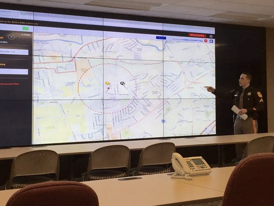 Officer First Class JP Piser explains how the county police department will use CrimeMapping.com.