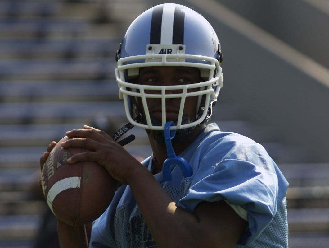 Asbury Park quarterback Mark Taylor set the Shore Conference single-season passing record for most yardage in 2001.