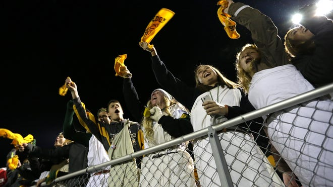 Freedom High School fans cheer for their football team Nov. 6.