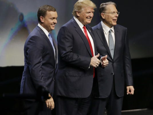 Donald Trump,Chris W Cox,Wayne LaPierre