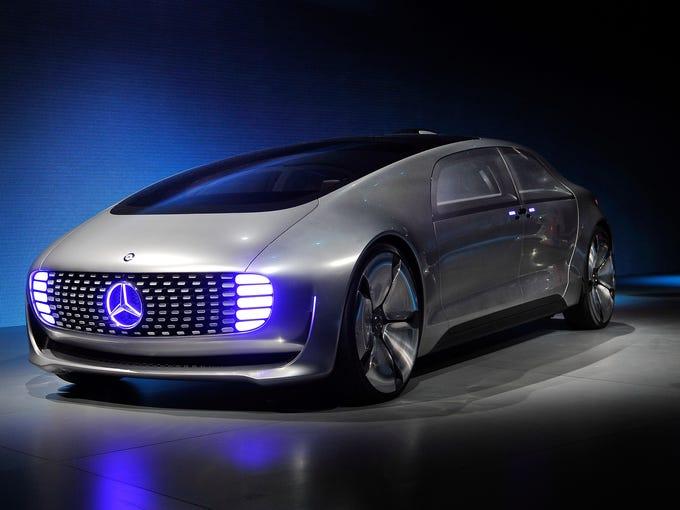 A Mercedes Benz F 015 Autonomous Driving Automobile