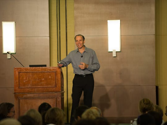 Joel Fuhrman, M.D. presents a lecture at one of his