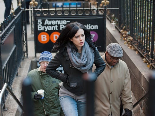 """Played by Krysten Ritter, the main character of """"Marvel's"""