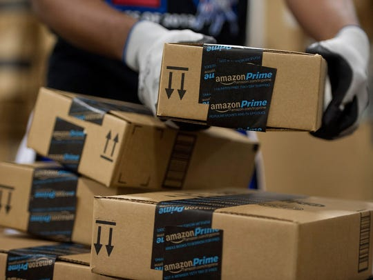 Amazon.com preparing orders for Cyber Monday.