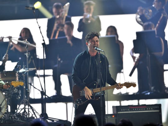 Max Kerman of  Arkells performs at the 2015 JUNO Awards at FirstOntario Centre on March 15, 2015 in Hamilton, Canada.