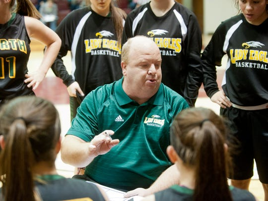 North Bullitt Lady Eagles head basketball coach David