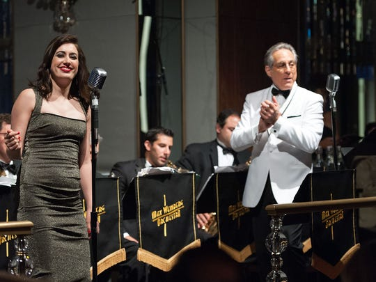 Max Weinberg (R) and daughter Ali Weinberg perform