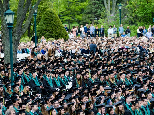University of Vermont class of 2016 attends the University
