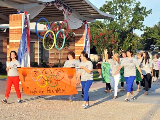 Sts. Peter & Paul Catholic School celebrates the first day of the 2016/17 school year with an Olympic themed parade.