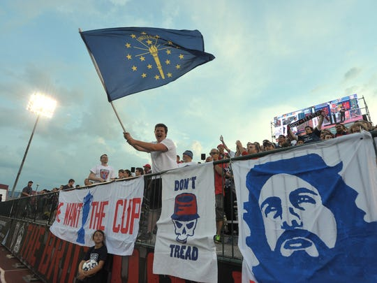 Indy Eleven fans had plenty to cheer about as the Eleven defeated the Dayton Dutch Lions 5-2 in U.S. Open Cup competition at Carroll Stadium at IUPUI, May 28, 2014.